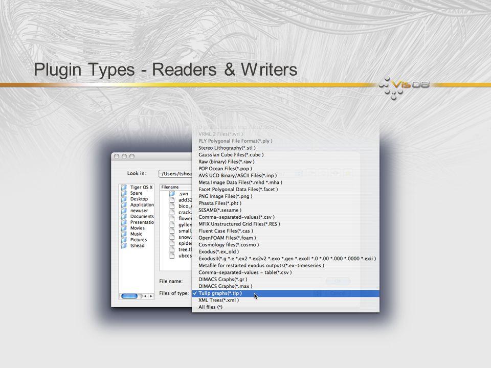 Plugin Types - Readers & Writers