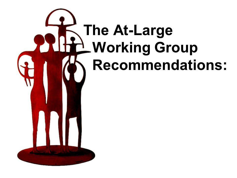 The At-Large Working Group Recommendations: