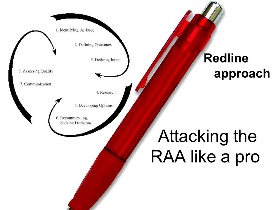 Attacking the RAA like a pro Redline approach