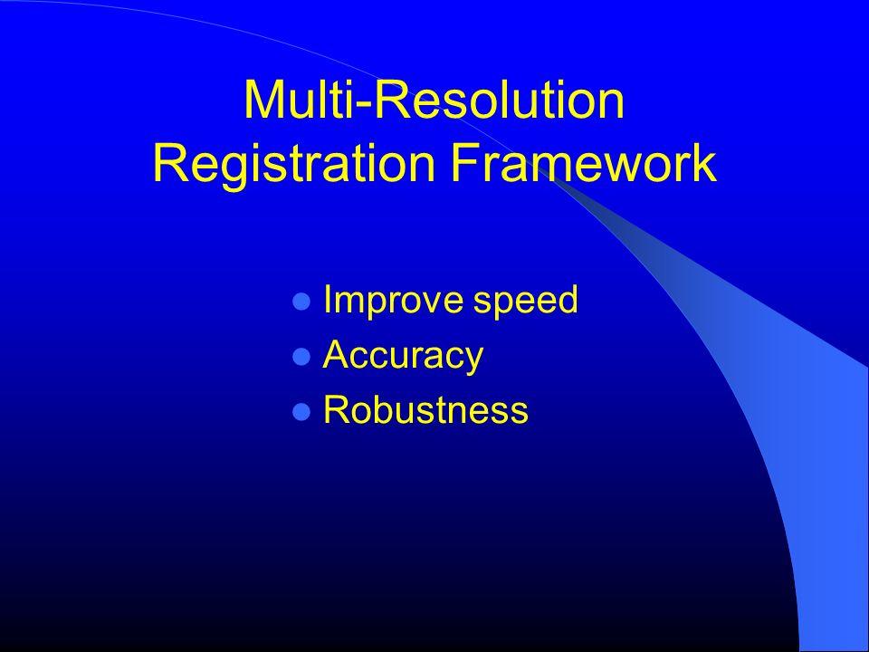 Multi-Resolution Registration Framework Improve speed Accuracy Robustness