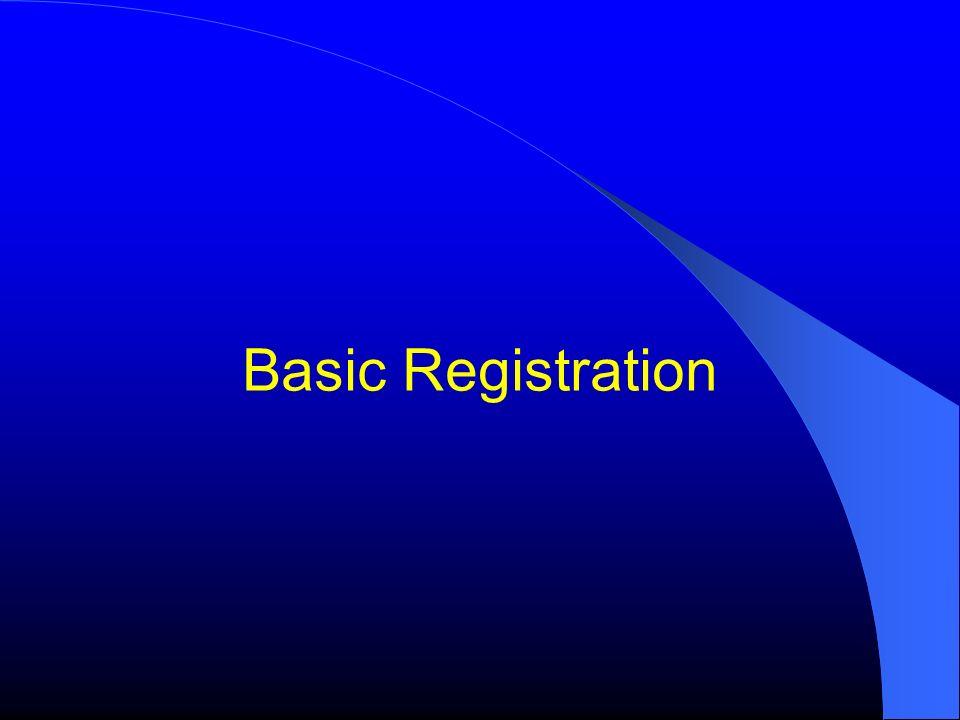 Basic Registration