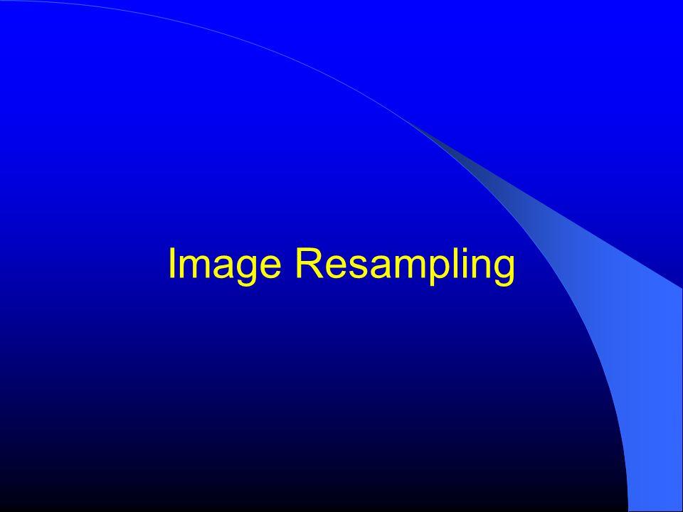 Why Resampling ? Resampling is the Essence of Intensity-Based Image Registration