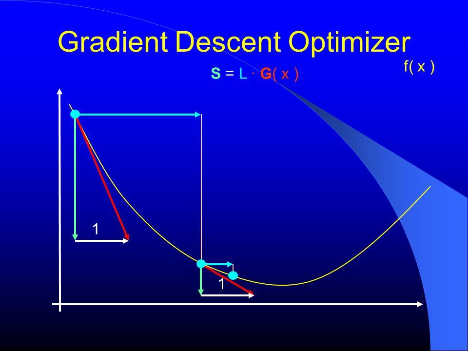 Gradient Descent Optimizer f( x ) S = L G( x ) 1 1