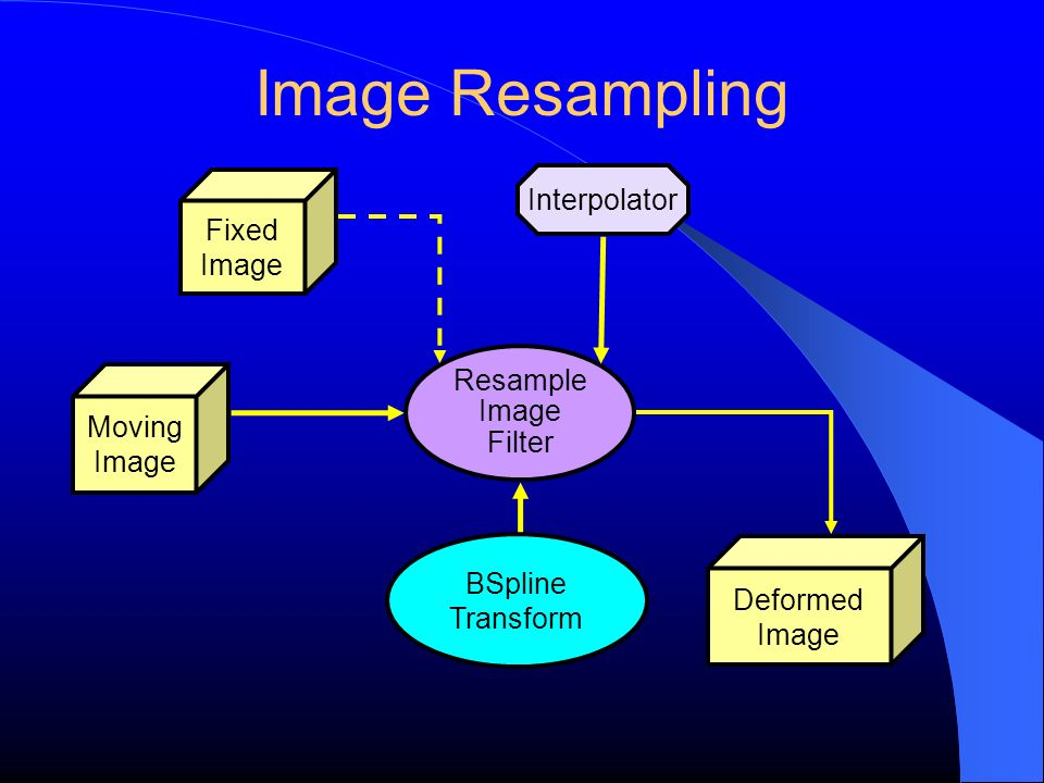 Image Resampling Fixed Image Moving Image Transform Interpolator Resample Image Filter Deformed Image BSpline Transform
