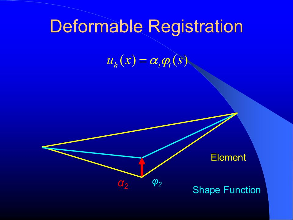Deformable Registration φ2φ2 Element α2α2 Shape Function