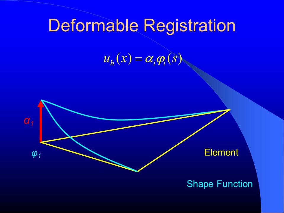 Deformable Registration φ1φ1 Element α1α1 Shape Function