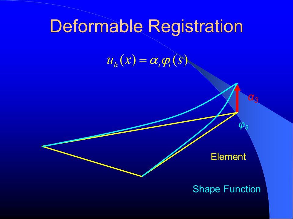 Deformable Registration φ3φ3 Element α3α3 Shape Function