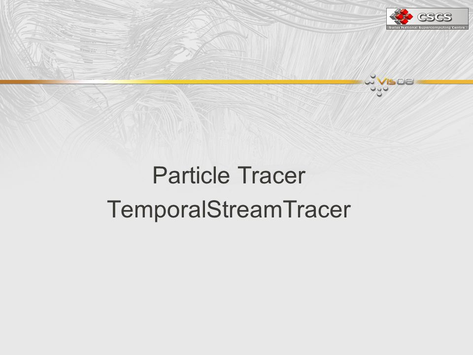 Particle Tracer TemporalStreamTracer