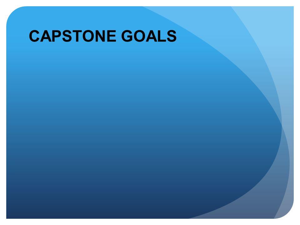 CAPSTONE GOALS