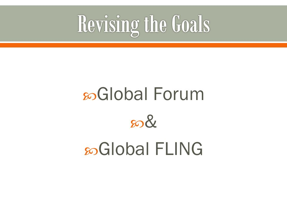 Global Forum & Global FLING