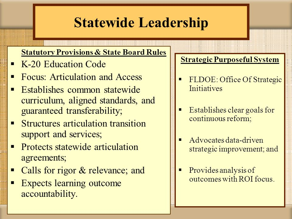 Transfer Student Rights Statewide Articulation Agreement.