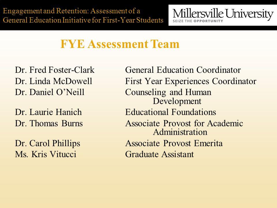 Dr. Fred Foster-ClarkGeneral Education Coordinator Dr.