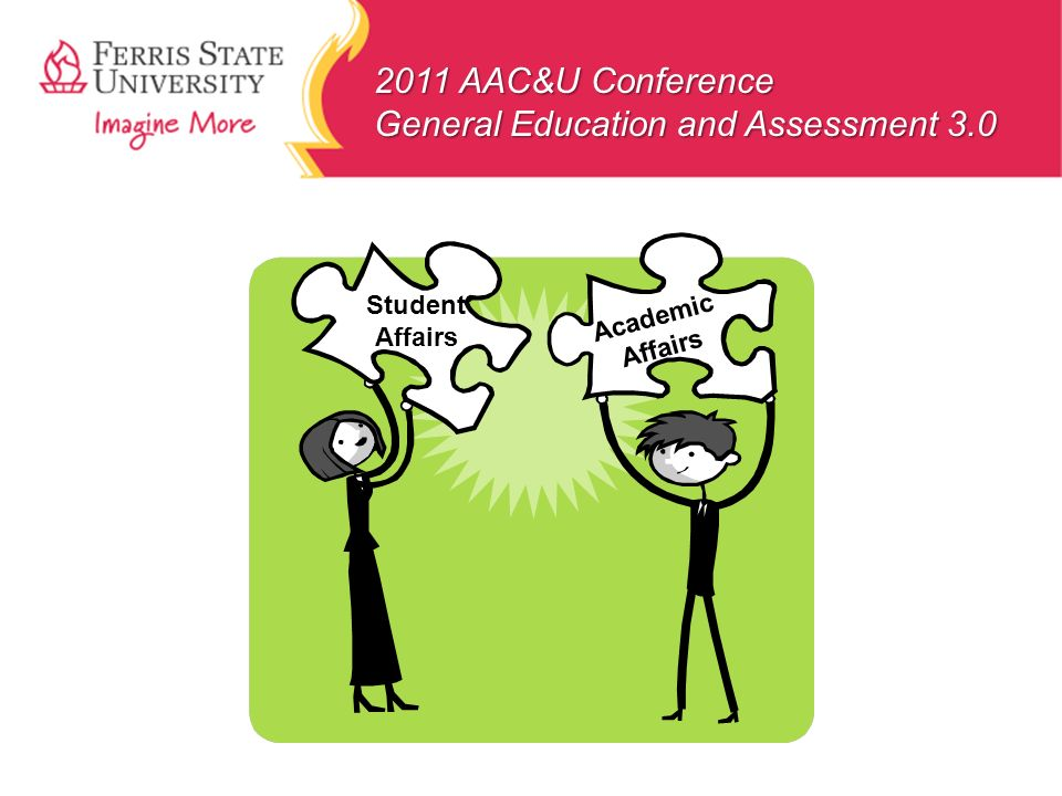 2011 AAC&U Conference General Education and Assessment 3.0 Student Affairs Academic Affairs