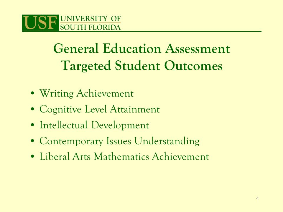 25 Discoveries Value in an institution assessing writing rather than an agency (ETS/ACT) Benefits of analytic scoring over holistic scoring Efficiency of essay assignments –Qualitative and quantitative data –Writing, cognitive levels, intellectual development –Data regarding general education dimensions –Areas of strength/weaknesses in curriculum –Conversations about quality writing
