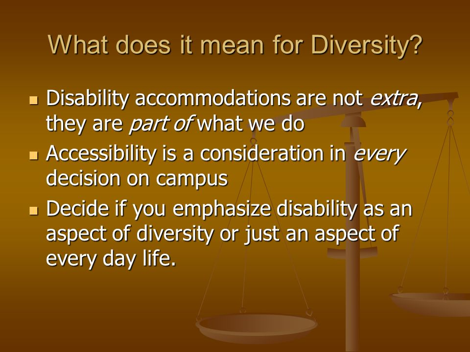 What does it mean for Diversity.