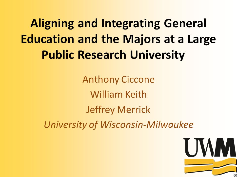Overview 1.History and Challenges at UWM 2.Themes of the Change Process at UWM 3.Structure of Current Proposal