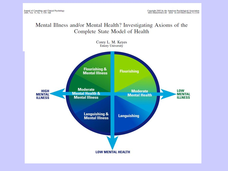 The Two Continua Model ©2010 CLM Keyes and the Winnipeg Regional Health Authority
