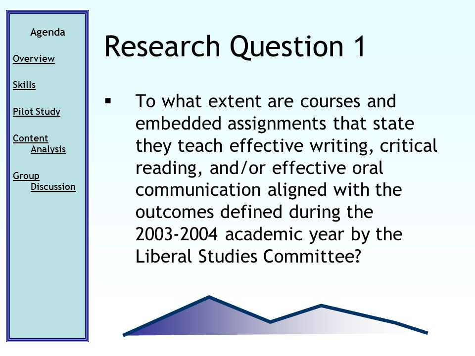 To what extent are courses and embedded assignments that state they teach effective writing, critical reading, and/or effective oral communication aligned with the outcomes defined during the 2003-2004 academic year by the Liberal Studies Committee.