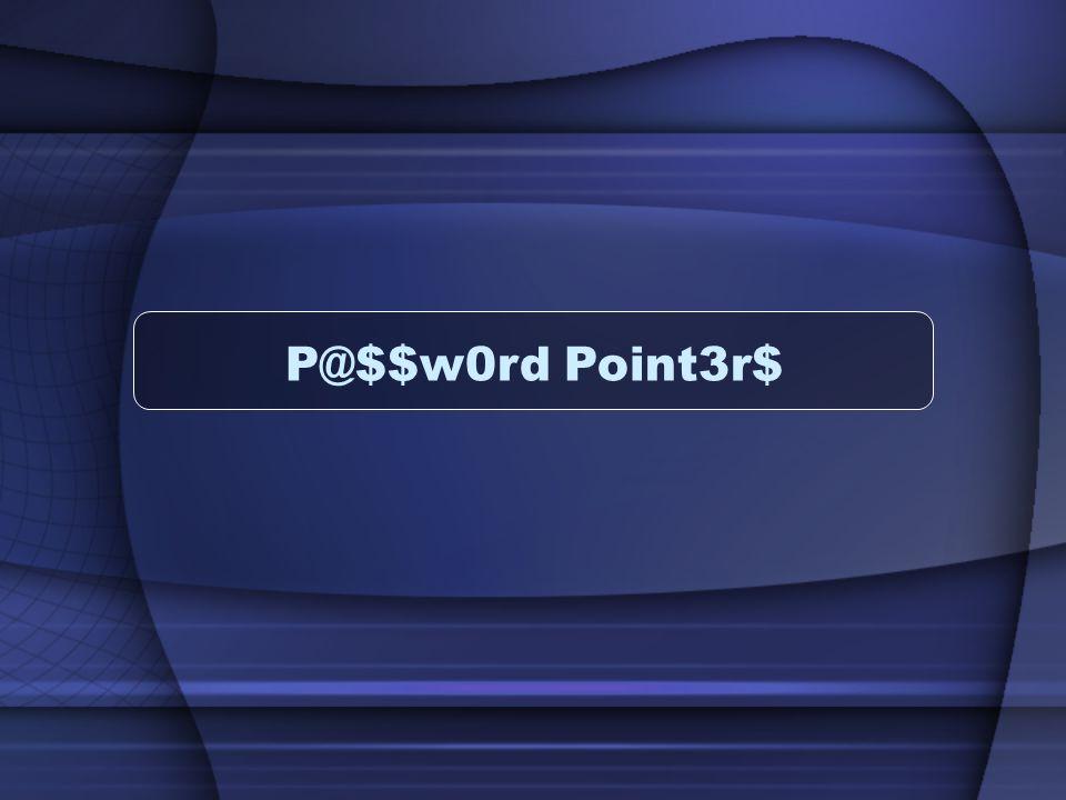 P@$$w0rd Point3r$