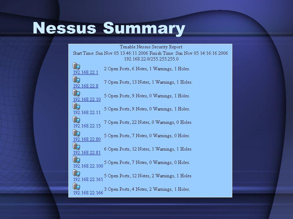 Nessus Summary