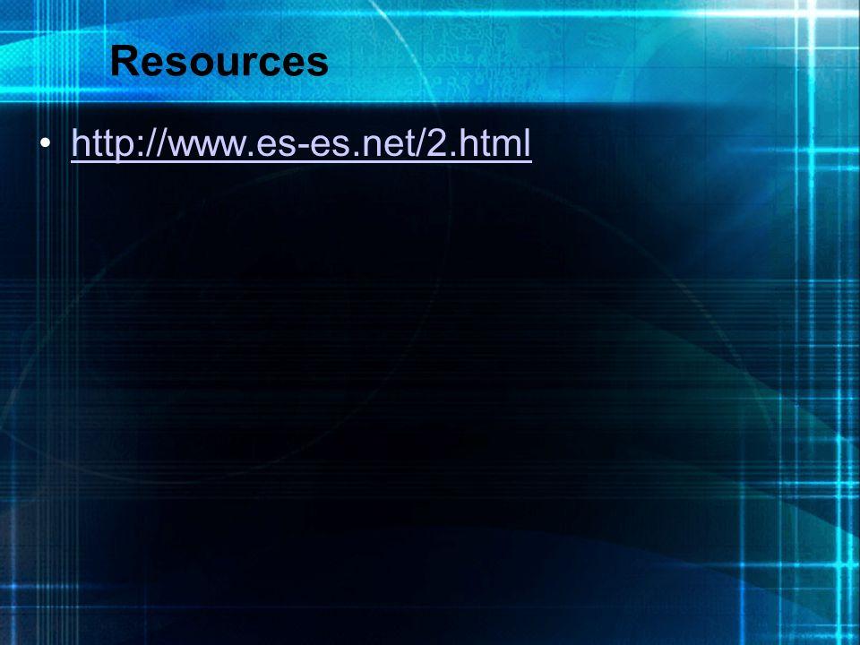 Resources http://www.es-es.net/2.html