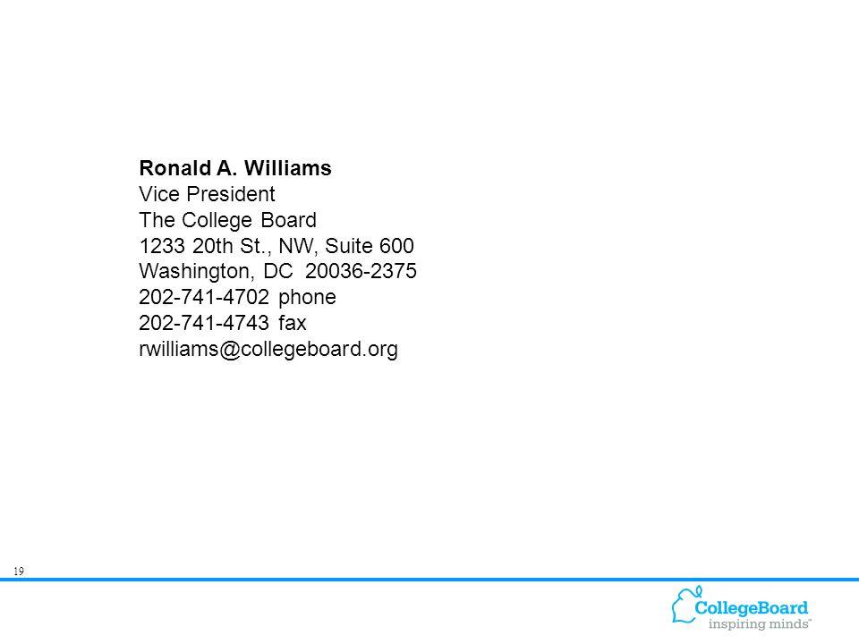 19 Ronald A.