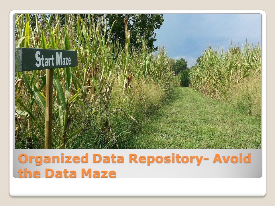 Organized Data Repository- Avoid the Data Maze