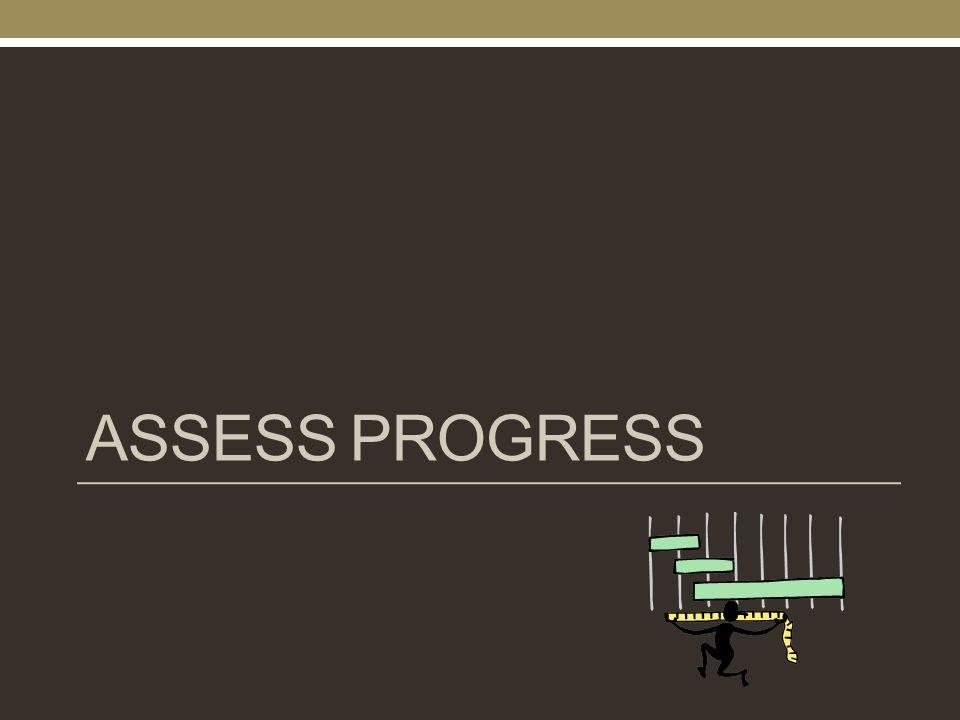 ASSESS PROGRESS
