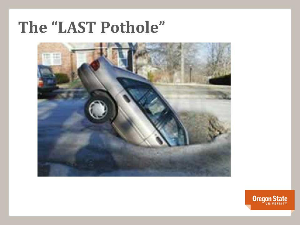 The LAST Pothole