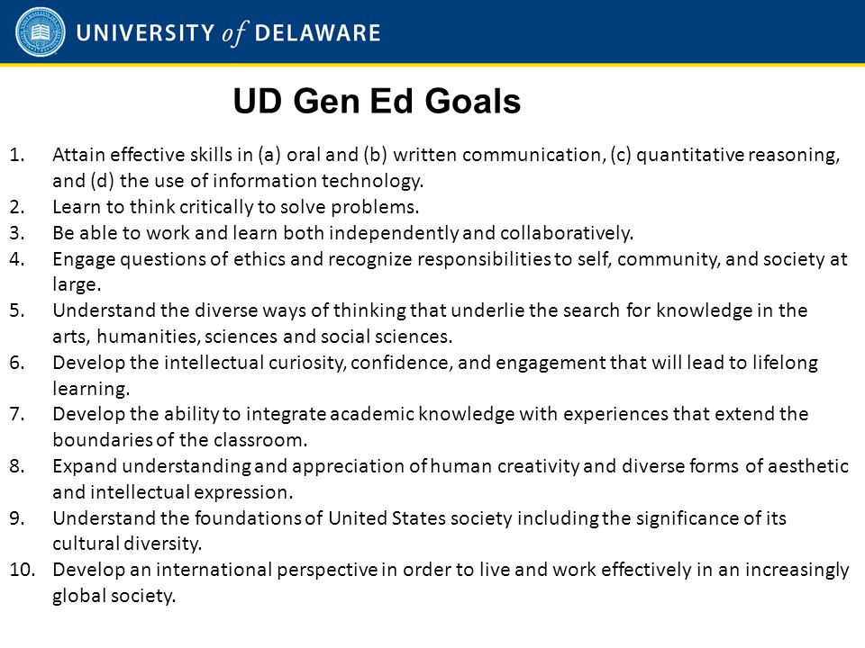 Agenda What is reverse engineering What is Gen Ed at UD.