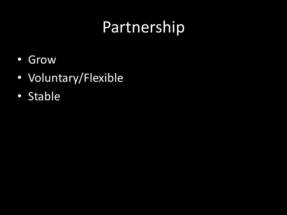Partnership Grow Voluntary/Flexible Stable