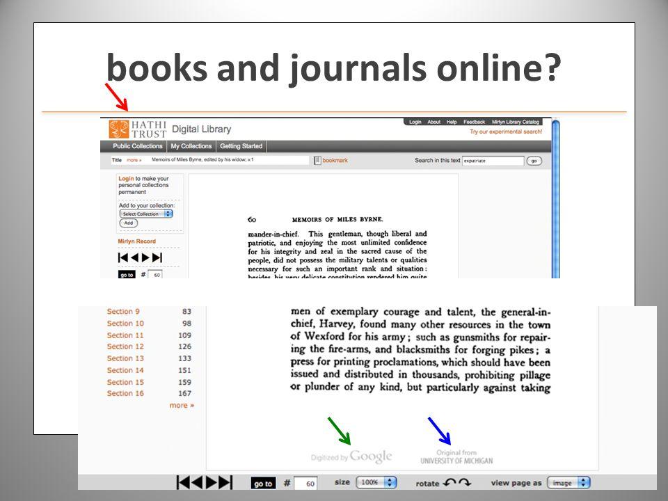 www.hathitrust.org books and journals online?