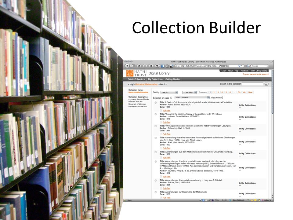 Collection Builder