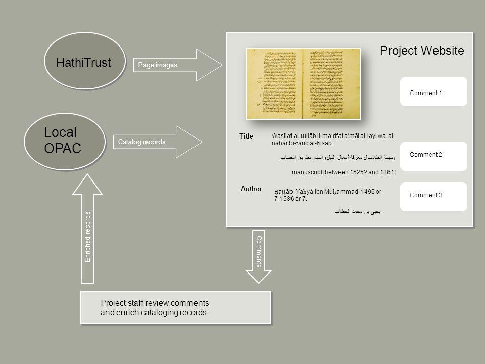 Project staff review comments and enrich cataloging records. Title Wasīlat al- ullāb li-marifat amāl al-layl wa-al- nahār bi- arīq al- isāb : وسيلة ال