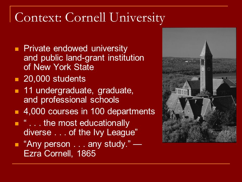 First-Year Writing Seminars (1966) Sophomore Seminars (2000) Writing in the Majors (1988) The Cornell Study of Student Writing (2001-05) The Cornell Consortium for Writing in the Disciplines (1998)