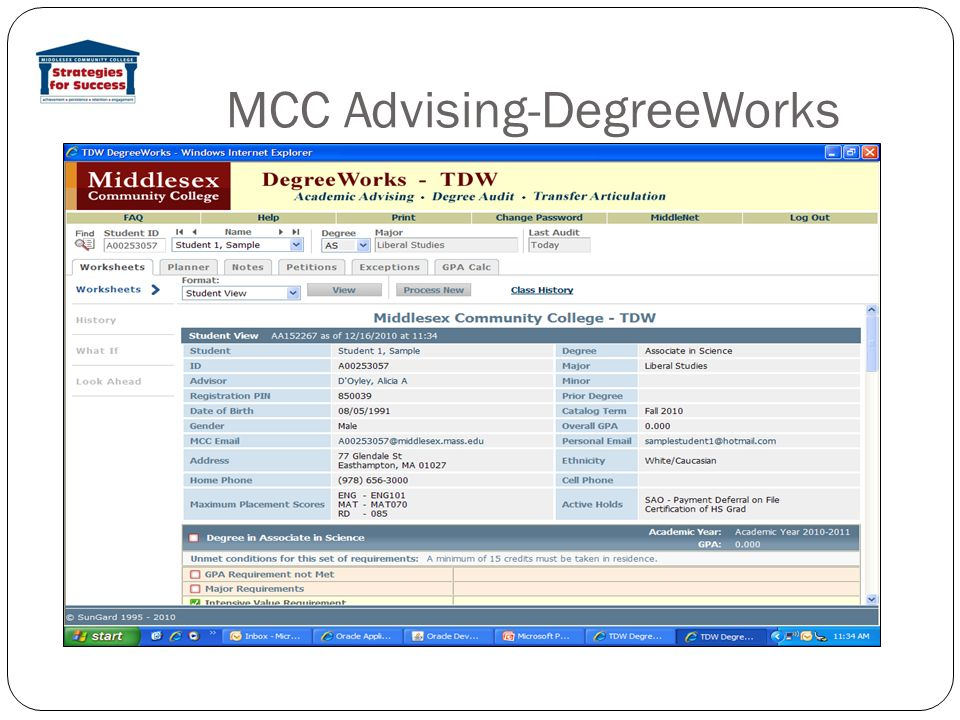 MCC Advising-DegreeWorks