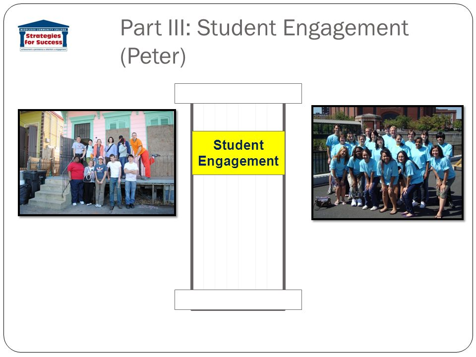 Part III: Student Engagement (Peter) Student Engagement