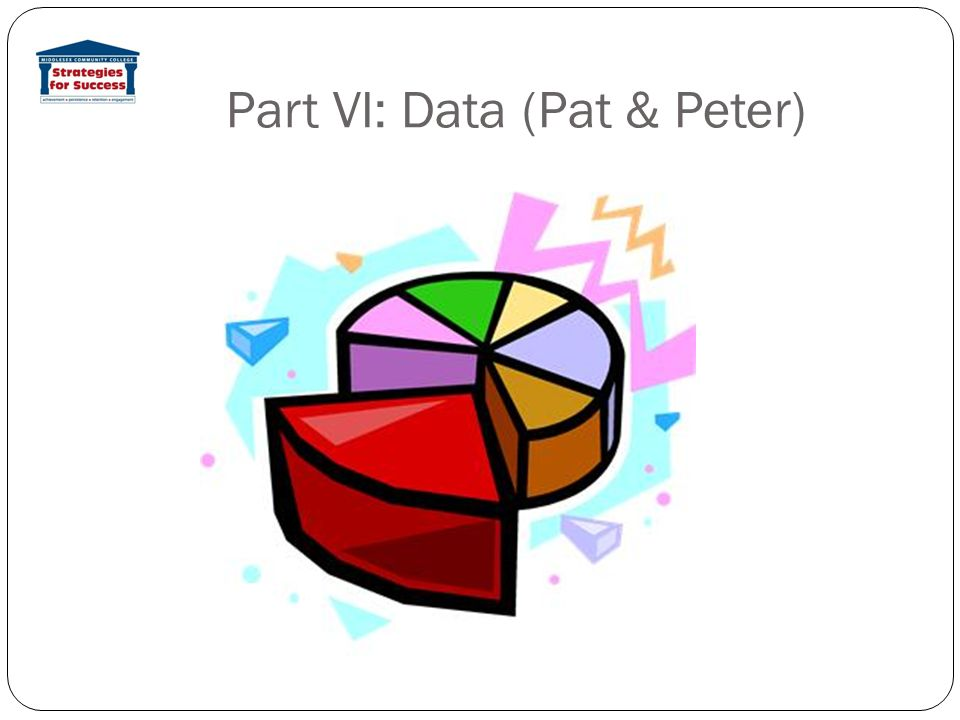 Part VI: Data (Pat & Peter)