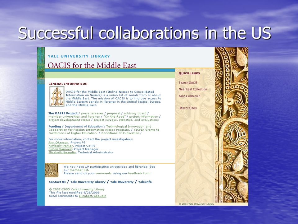 Successful collaborations in the US