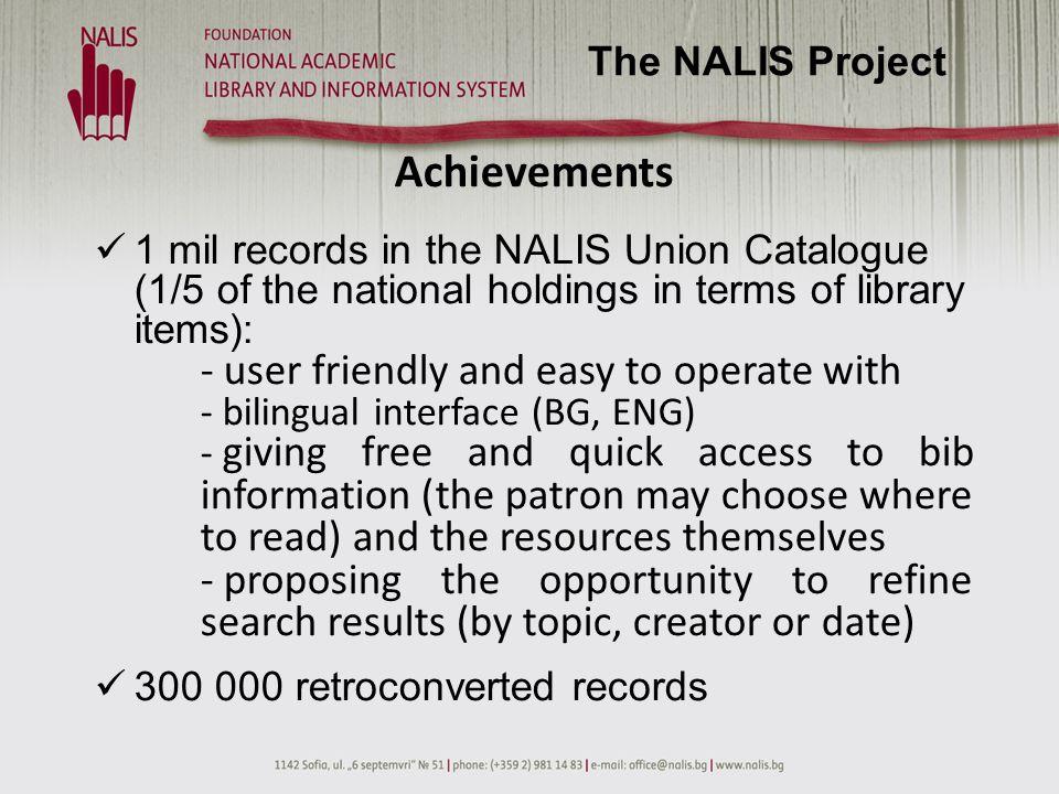 Achievements 2 digital collections: - ca.
