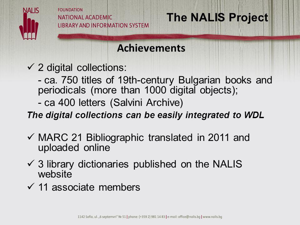 NALISF Associate Members The NALIS Project