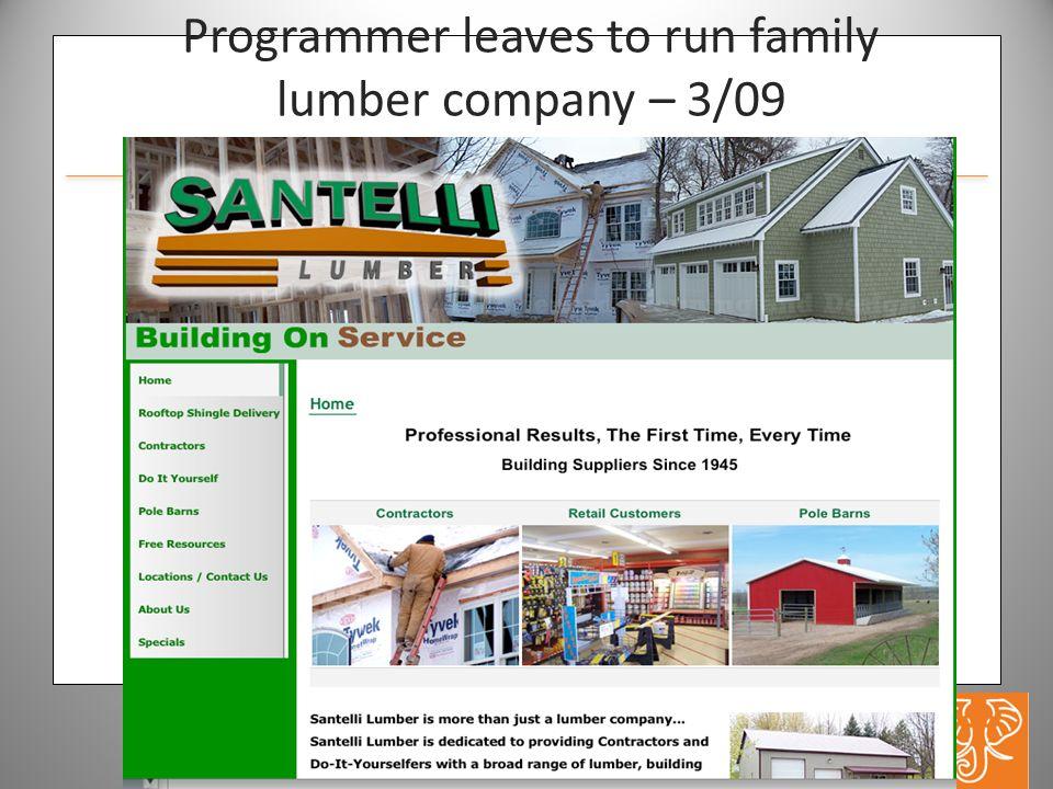 www.hathitrust.org Programmer leaves to run family lumber company – 3/09