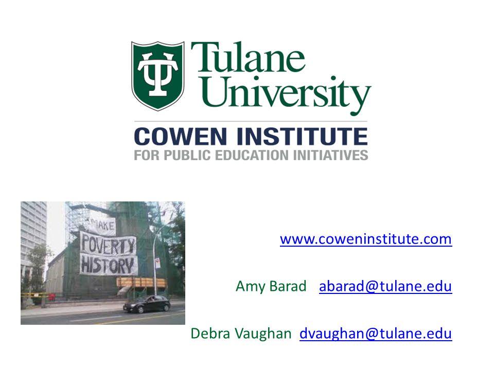 www.coweninstitute.com Amy Barad abarad@tulane.eduabarad@tulane.edu Debra Vaughan dvaughan@tulane.edudvaughan@tulane.edu