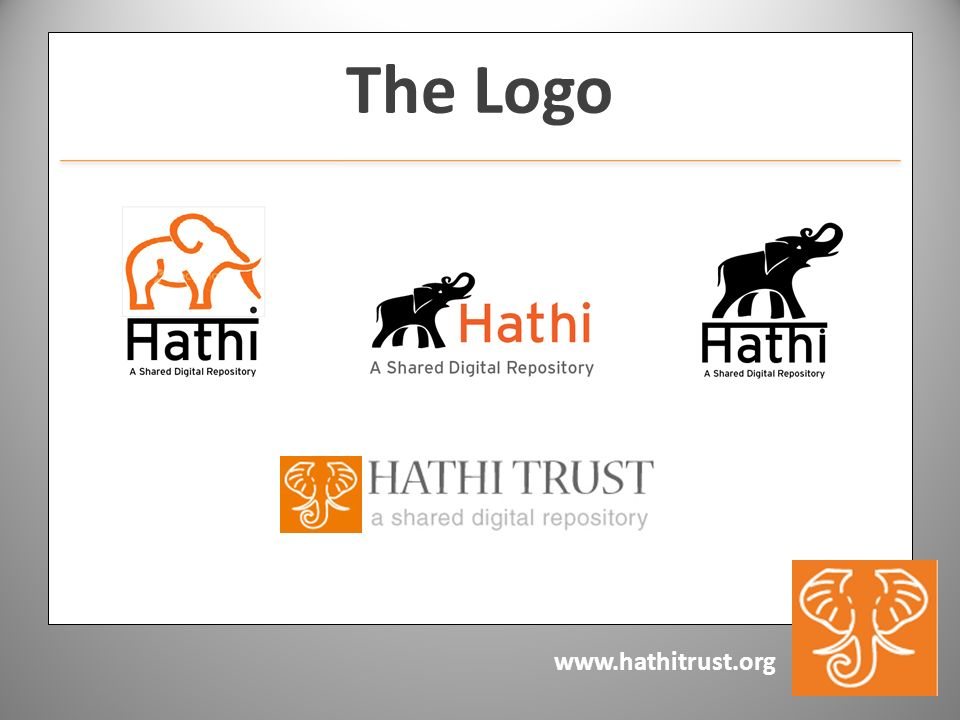 www.hathitrust.org The Logo
