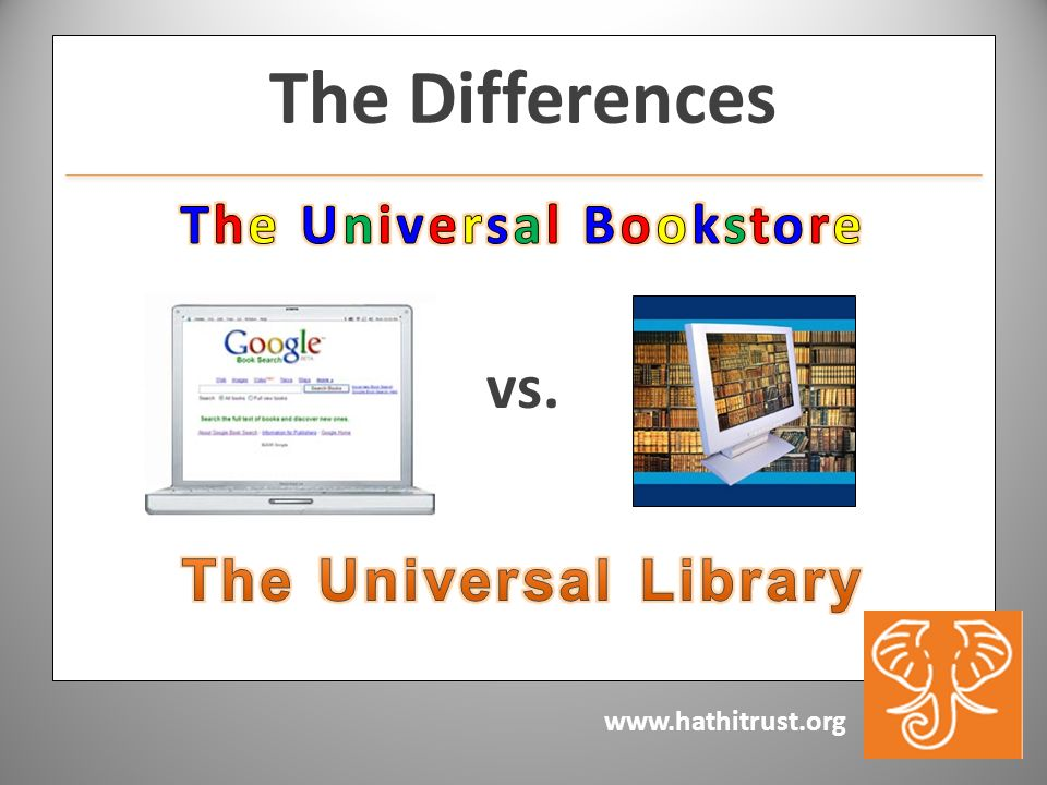 www.hathitrust.org vs. The Differences
