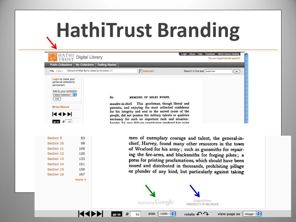 www.hathitrust.org HathiTrust Branding