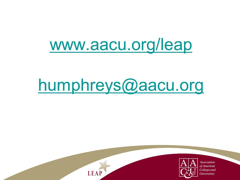 www.aacu.org/leap humphreys@aacu.org