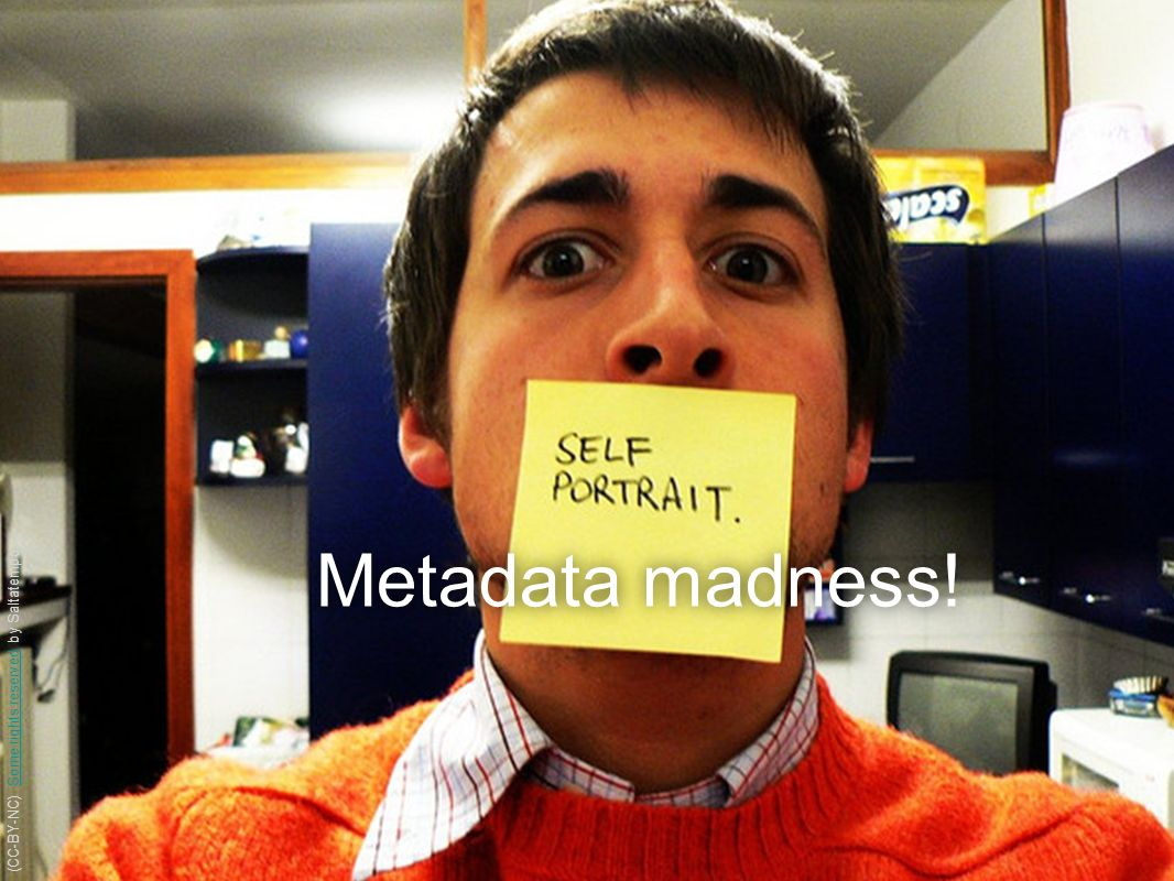 Metadata madness! (CC-BY-NC) Some rights reserved by Saltatempo(CC-BY-NC) Some rights reserved by Saltatempo