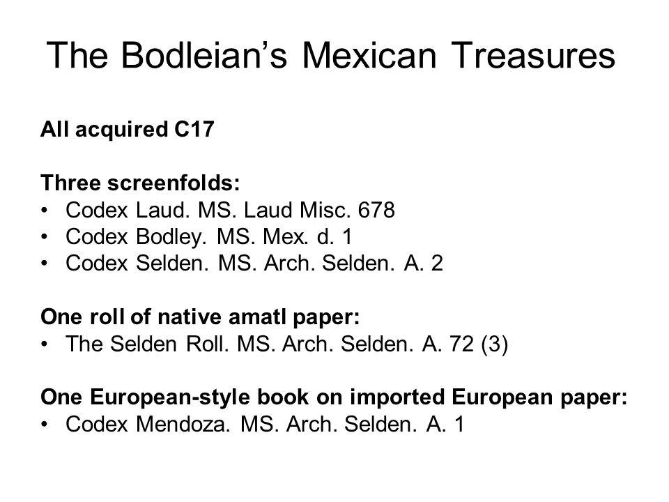 Codex Mendoza (MS.Arch. Selden. A.