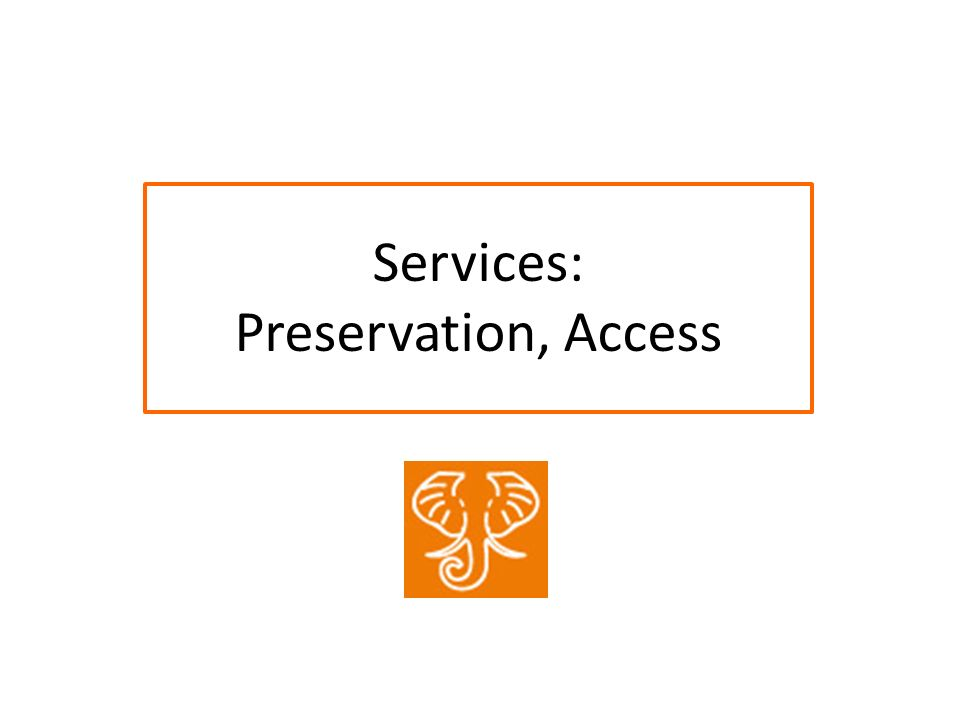 Services: Preservation, Access